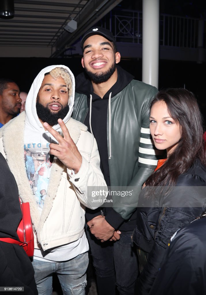 NFL player for New York Giants, Odell Beckham Jr., NBA player for Minnesota Timberwolves, Karl-Anthony Towns and guest at Rolling Stone Live: Minneapolis presented by Mercedes-Benz and TIDAL. Produced in partnership with Talent Resources Sports on February 2, 2018 in Minneapolis, Minnesota.