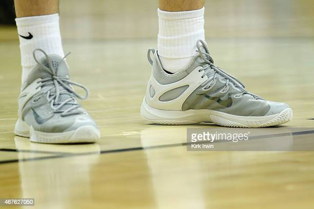 A player for the Valparaiso Crusaders wears a pair of Nike basketball shoes during the second round of the 2015 NCAA Men's Basketball Tournament at...