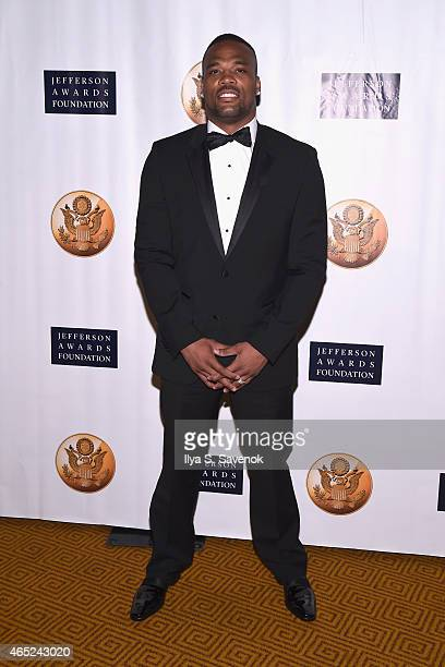 Player Fred Jackson attends the Jefferson Awards Foundation 2015 NYC National Ceremony on March 4 2015 in New York City