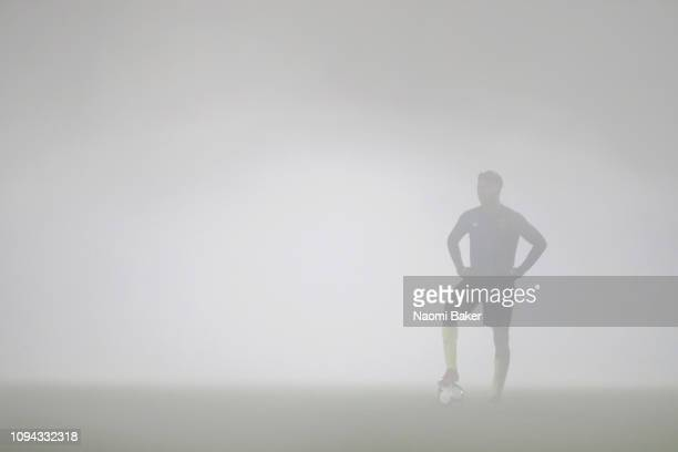 Player from West Ham looks on after Arsenal score their second goal during the Premier League 2 match between Arsenal and West Ham at Meadow Park on...