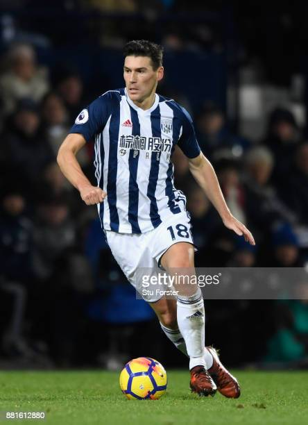WBA player Gareth Barry in action during the Premier League match between West Bromwich Albion and Newcastle United at The Hawthorns on November 28...
