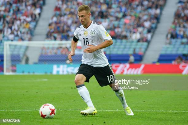 player Germany Joshua Kimmich while match the FIFA Confederations Cup 2017 group B soccer match between Australia and Germany in Sochi Russia on June...