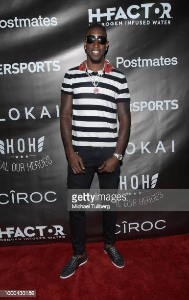 NFL player Geronimo Allison attends VaynerSports' 2nd Annual Celebrity ESPY's KickOff Party at Dream Hotel on July 16 2018 in Hollywood California