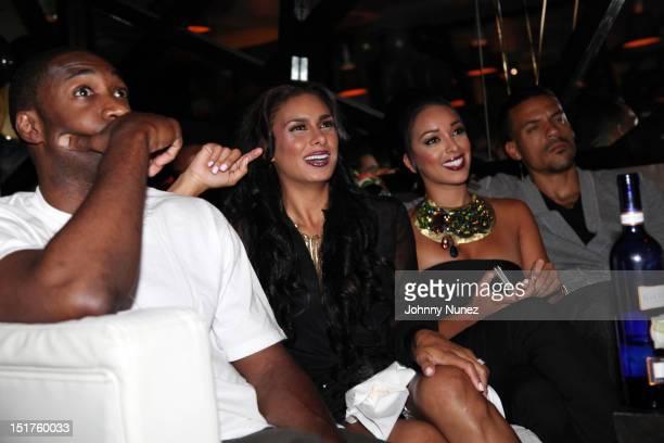 "Player Gilbert Arenas, Laura Govan, Gloria Govan, and NBA player Matt Barnes attend the ""Basketball Wives LA"" Season 2 Premiere at Suite 55 on..."