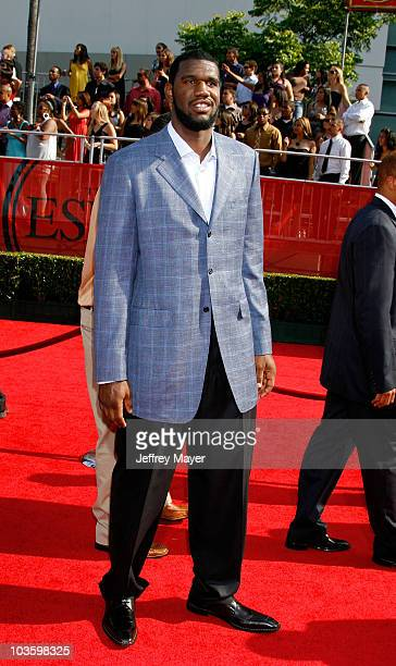 NBA Player Greg Oden arrives at the 2008 ESPY Awards held at NOKIA Theatre LA LIVE on July 16 2008 in Los Angeles California The 2008 ESPYs will air...