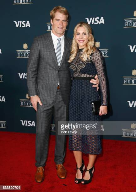 NFL player Greg Olsen and Kara Dooley attend 6th Annual NFL Honors at Wortham Theater Center on February 4 2017 in Houston Texas