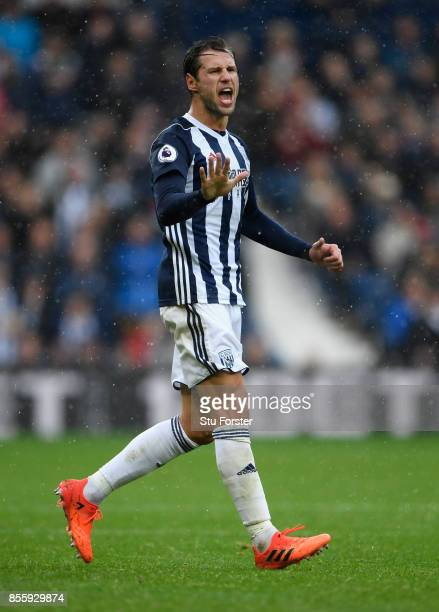 WBA player Grzegorz Krychowiak in action during the Premier League match between West Bromwich Albion and Watford at The Hawthorns on September 30...