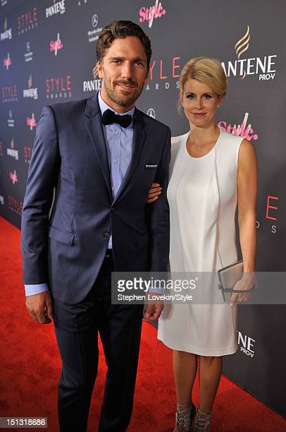 NHL player Henrik Lundqvist and Therese Anderson arrive at the 9th Annual Style Awards at Lincoln Center on September 5 2012 in New York City Tune in...