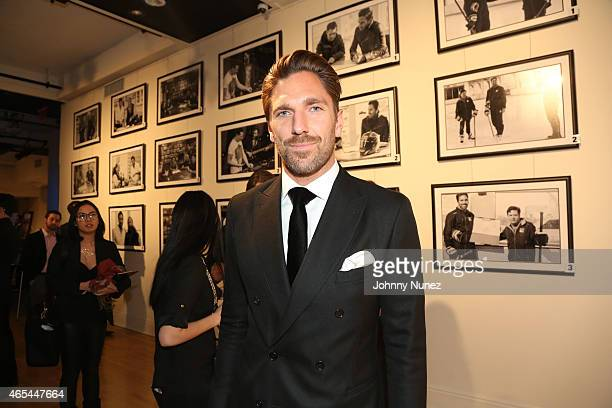 NHL player Henrik Lundqvist attends An Evening Behind The Mask with the Henrik Lundqvist Foundation at Helen Mills Theater on March 6 2015 in New...