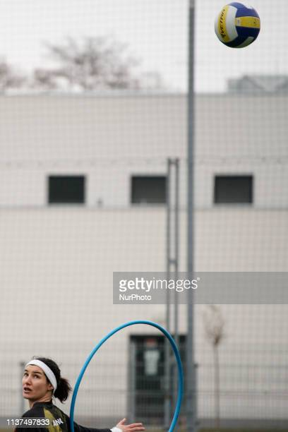 A player is seen during the European Cup in Warsaw Poland on April 13 2019 Quidditch is the semicontact sport based on the fictional game from the...