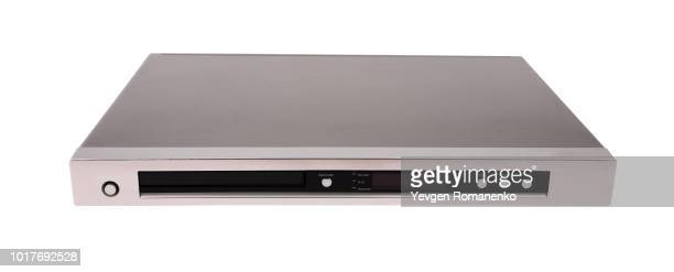 dvd player isolated on white background - dvd player stock photos and pictures