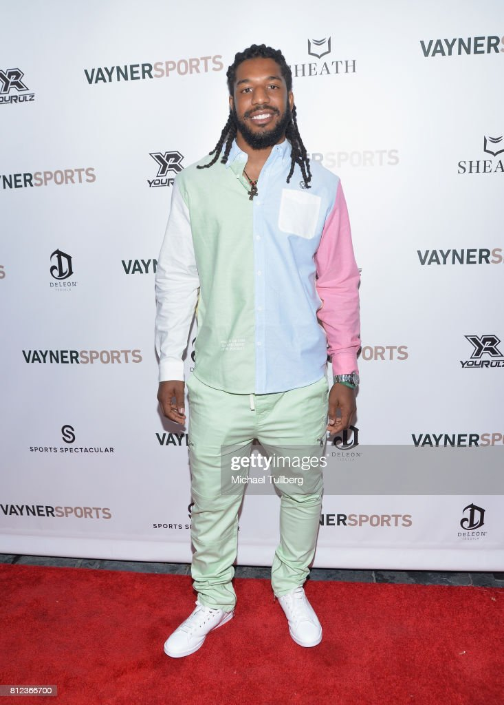 NFL player Jalen Reeves-Maybin attends VaynerSports' Annual Celebrity ESPYS Kickoff Party at Avenue on July 10, 2017 in Los Angeles, California.