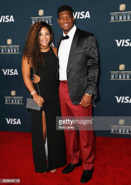 NFL player Jameis Winston and Breion Allen attend 6th Annual NFL Honors at Wortham Theater Center on February 4 2017 in Houston Texas