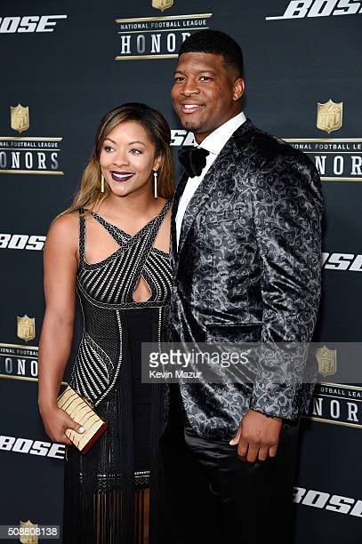 NFL player Jameis Winston and Breion Allen attend the 5th annual NFL Honors at Bill Graham Civic Auditorium on February 6 2016 in San Francisco...