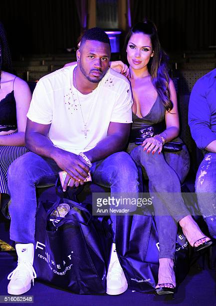Player James Anderson and model Carissa Rosario attend Art Hearts Fashion LAFW Fall/Winter 2016 at Taglyan Cultural Complex on March 16, 2016 in...