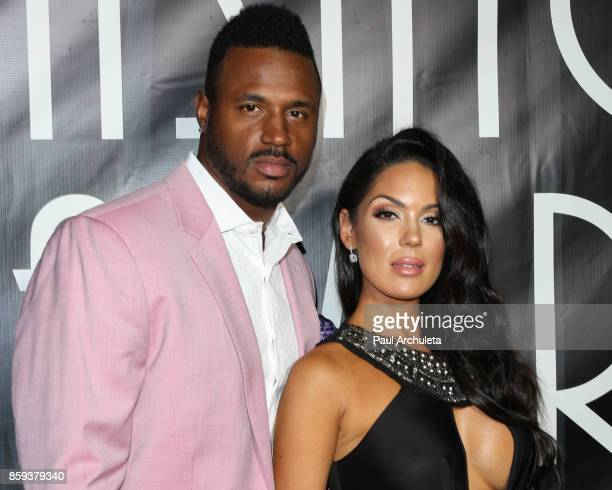 Player James Anderson and Model Carissa Rosario attend the 4th Annual CineFashion Film Awards at The El Capitan Theatre on October 8 2017 in Los...