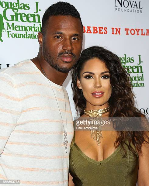 Player James Anderson and Model Carissa Rosario attend the Babes In Toyland: Support Our Troops event at Le Jardin night club on August 3, 2016 in...