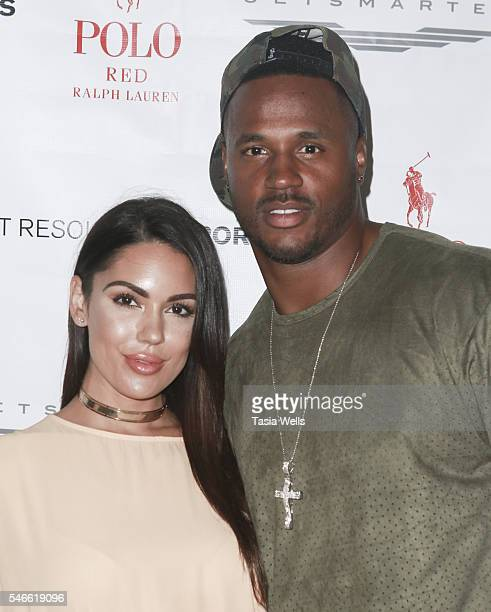 Player James Anderson and TV Personality Carissa Rosario attends 2016 ESPYs Talent Resources Sports Luxury Lounge on July 12, 2016 in Los Angeles,...