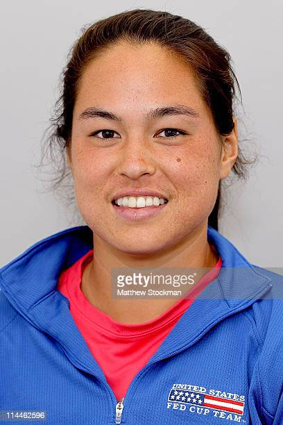 WTA player Jamie Hampton poses for a portrait at Roland Garros on May 20 2011 in Paris France