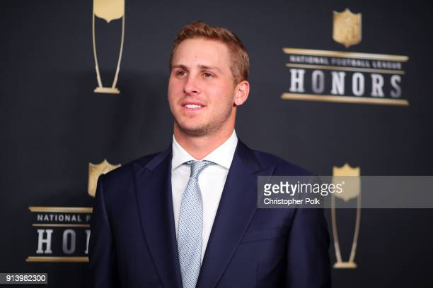 Player Jared Goff attends the NFL Honors at University of Minnesota on February 3 2018 in Minneapolis Minnesota