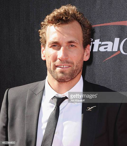 NHL player Jarret Stoll arrive at the 2014 ESPYS at Nokia Theatre LA Live on July 16 2014 in Los Angeles California