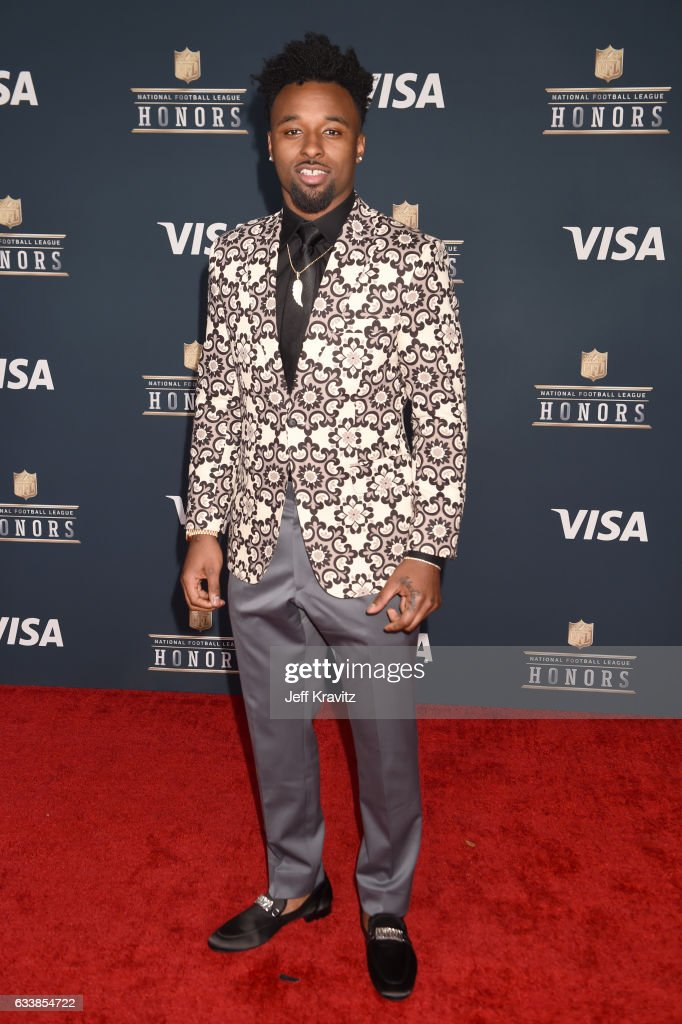 NFL player Jarvis Landry attends 6th Annual NFL Honors at Wortham Theater Center on February 4, 2017 in Houston, Texas.