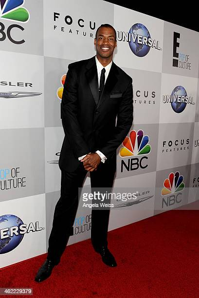 Player Jason Collins attends the Universal NBC Focus Features E sponsored by Chrysler viewing and after party with Gold Meets Golden held at The...