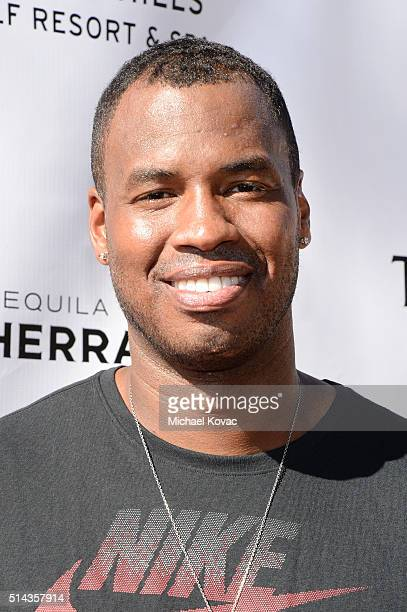 Player Jason Collins celebrates with Moet & Chandon at the 12th annual Desert Smash at the Westin Mission Hills Golf Resort and Spa on March 8, 2016...