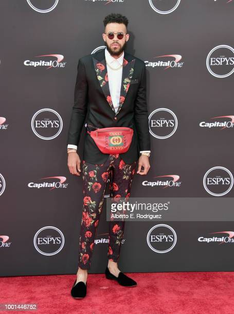 NBA player JaVale McGee attends The 2018 ESPYS at Microsoft Theater on July 18 2018 in Los Angeles California