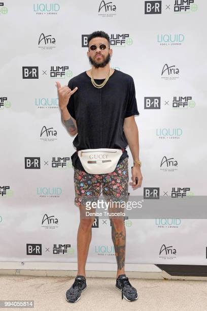 NBA player JaVale McGee attends the B/R x Jumpoff 2018 at Liquid Pool Lounge on July 8 2018 in Las Vegas Nevada
