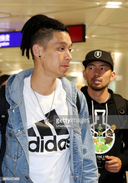 NBA player Jeremy Lin of the Brooklyn Nets arrives at Taoyuan Airport on May 31 2018 in Taipei Taiwan