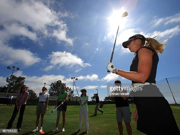LPGA player Jill McGill of the USA speaks during Fortune Magazine Clinic at the LPGA Samsung World Championship on September 14 2009 at Torrey Pines...