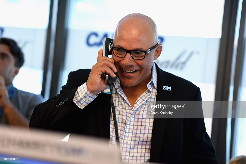 MLB player Jim Leyritz attends the Annual Charity Day hosted by Cantor Fitzgerald, BGC and GFI at Cantor Fitzgerald on September 12, 2016 in New York City.