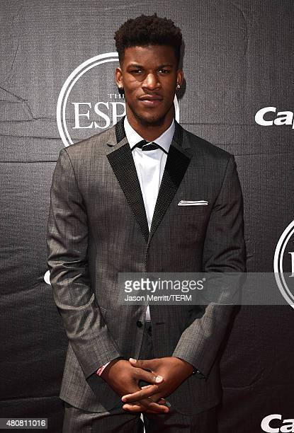 Player Jimmy Butler attends The 2015 ESPYS at Microsoft Theater on July 15, 2015 in Los Angeles, California.