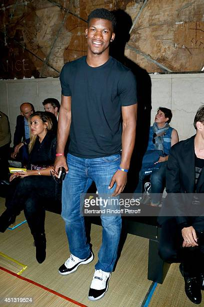 NBA player Jimmy Butler attends the Cerruti show as part of the Paris Fashion Week Menswear Spring/Summer 2015 on June 27 2014 in Paris France