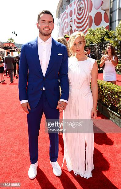 NBA player JJ Reddick and wife Chelsea Kilgore attend The 2015 ESPYS at Microsoft Theater on July 15 2015 in Los Angeles California