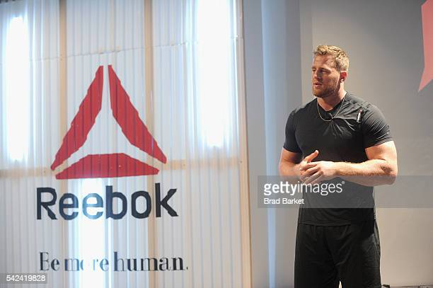 NFL player JJ Watt attends the Launch of JJ Watt's New Signature Sneaker The Reebok JJ I at ArtBeam on June 23 2016 in New York City