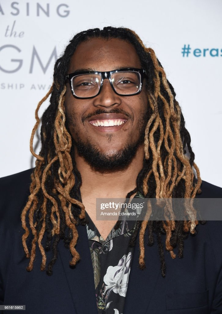 NFL player Joe Barksdale arrives at the Didi Hirsch Mental Health Services' 2018 Erasing The Stigma Leadership Awards at The Beverly Hilton Hotel on April 26, 2018 in Beverly Hills, California.