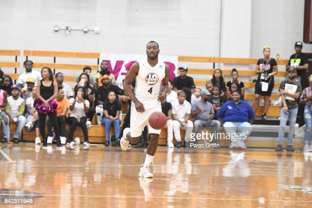 Player John Wall at 2017 LudaDay Celebrity Basketball Game at Morehouse College Forbes Arena on September 3 2017 in Atlanta Georgia