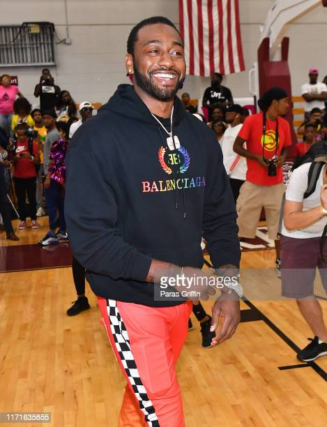 Player John Wall attends 14th Annual LudaDay Weekend Celebrity Basketball Game at Morehouse College on September 01 2019 in Atlanta Georgia