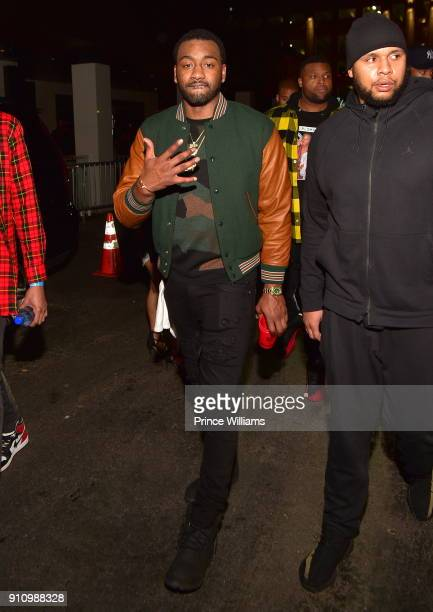 Player John Wall attends Trouble Welcome Home Party at Gold Room on January 26 2018 in Atlanta Georgia