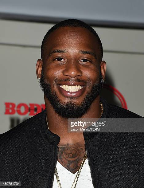 NFL player Jonas Gray attends BODY at ESPYs at Milk Studios on July 14 2015 in Hollywood California