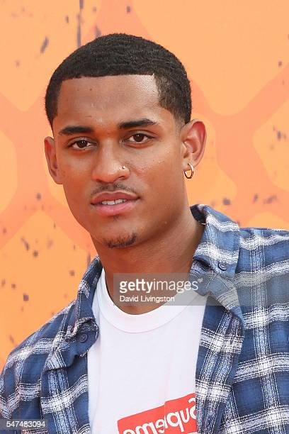 NBA player Jordan Clarkson arrives at the Nickelodeon Kids' Choice Sports Awards 2016 at the UCLA's Pauley Pavilion on July 14 2016 in Westwood...