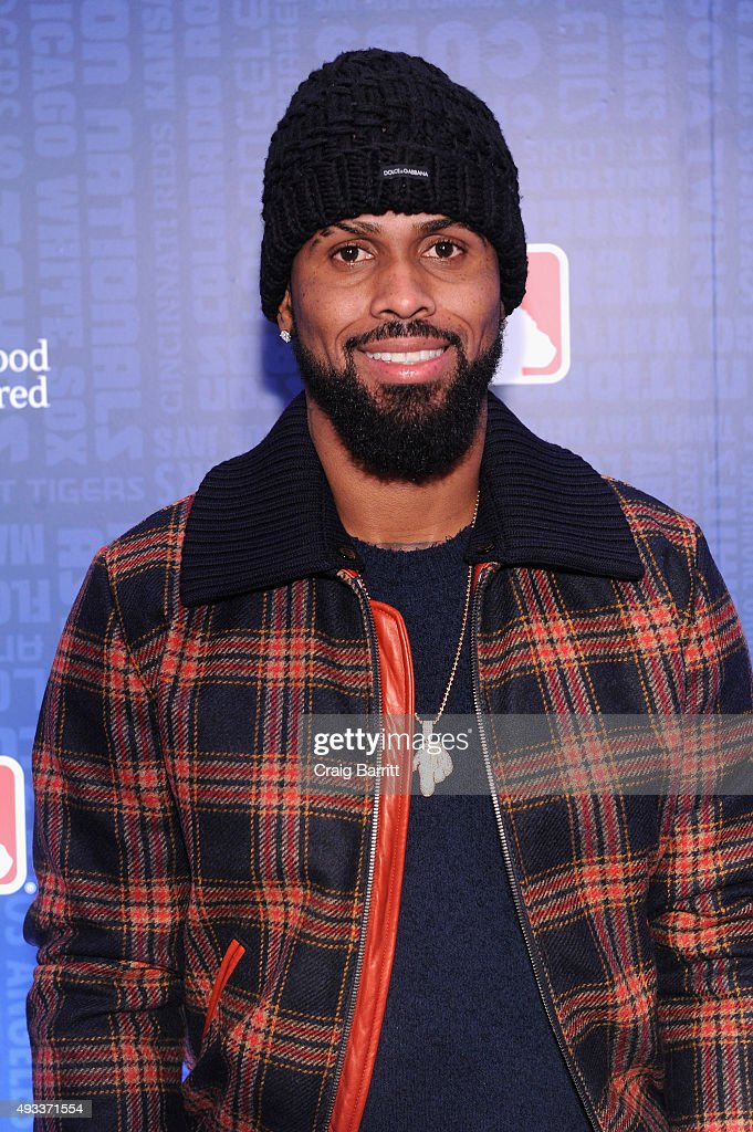 MLB player Jose Reyes celebrates the launch of Sheraton Hotels & Resorts, SPG and MLB's New Partnership at a special screening of Game 3 of the ALCS at the Sheraton New York Times Square on October 19, 2015 in New York City.