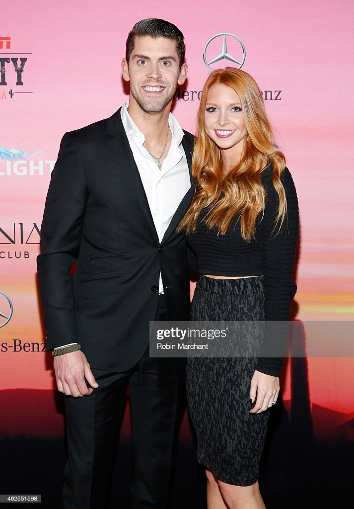 Nfl Player Justin Tucker And Amanda Bass Attend Espn The Party At News Photo Getty Images