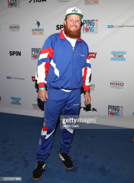 Player Justin Turner attends the 6th Annual PingPong4Purpose at Dodger Stadium on August 23 2018 in Los Angeles California