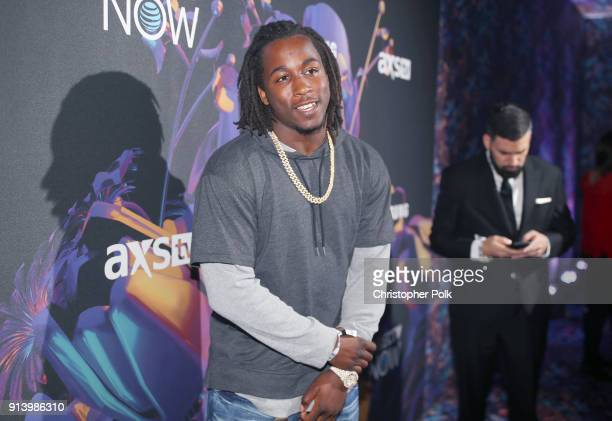 NFL player Kareem Hunt attends the 2018 DIRECTV NOW Super Saturday Night Concert at NOMADIC LIVE at The Armory on February 3 2018 in Minneapolis...