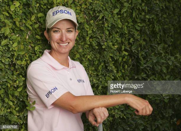 LPGA player Karrie Webb poses for a portrait prior to the start of the Safeway International at Superstition Mountain Golf and Country Club on March...