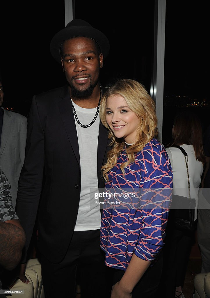 NBA player Kevin Durant and actress Chloe Grace Moretz attend NBA 2K15 Launch Celebration at The Standard on September 23, 2014 in New York City.
