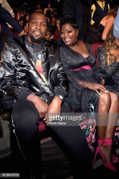 NBA player Kevin Durant and Wanda Durant attend The 2017 ESPYS at Microsoft Theater on July 12 2017 in Los Angeles California